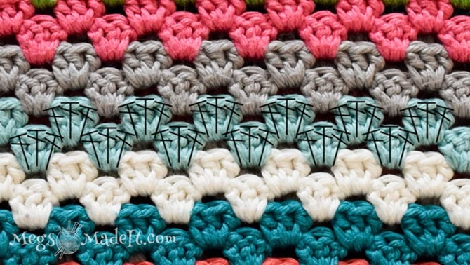 Crochet Granny Stripe Stitch Free Pattern and Instruction - Video