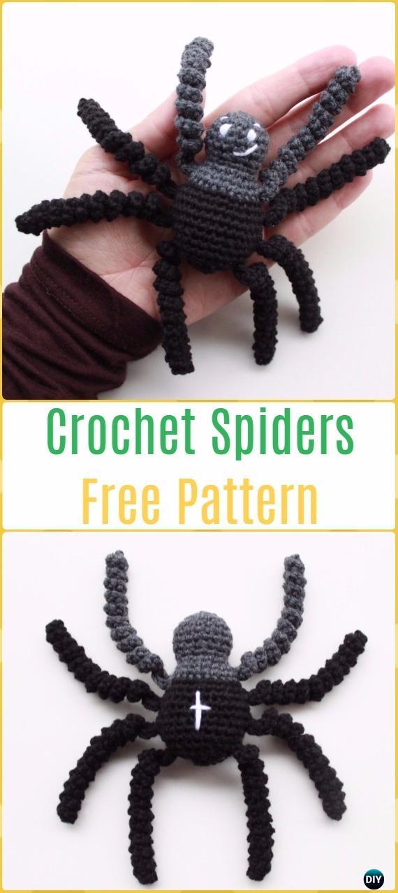 Crochet Spiders Free Pattern -Crochet Halloween Amigurumi Free Patterns