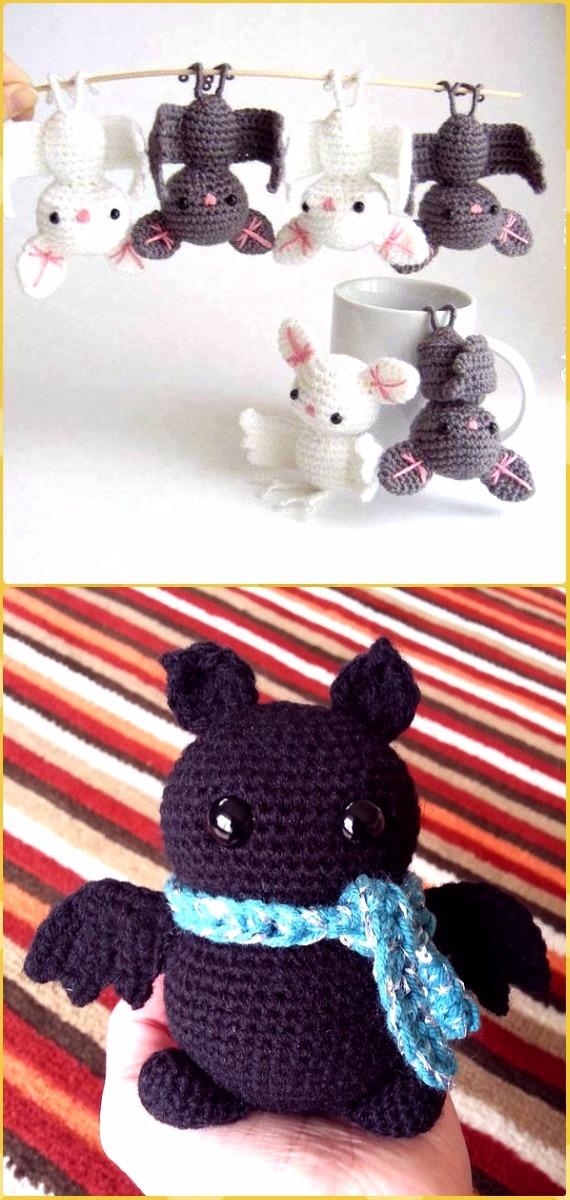 Crochet Halloween Bat Amigurumi Free Patterns -Crochet Halloween Amigurumi Free Patterns