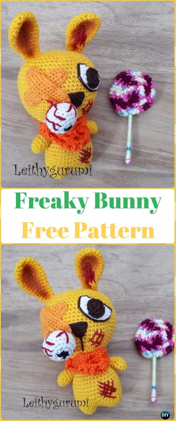 Crochet Halloween Freaky Bunny Free Pattern -Crochet Halloween Amigurumi Free Patterns