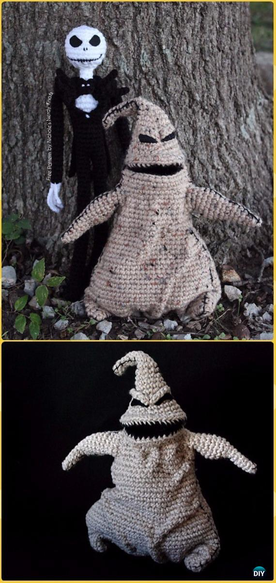 Crochet Oogie Boogie & Jack Skellington Free Pattern -Crochet Halloween Amigurumi Free Patterns