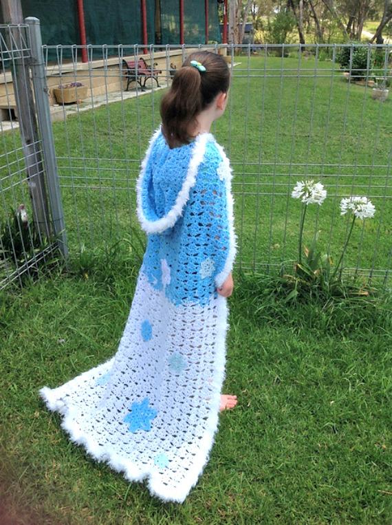 Crochet Fairytale Hooded Cape Free Pattern Crochet Halloween