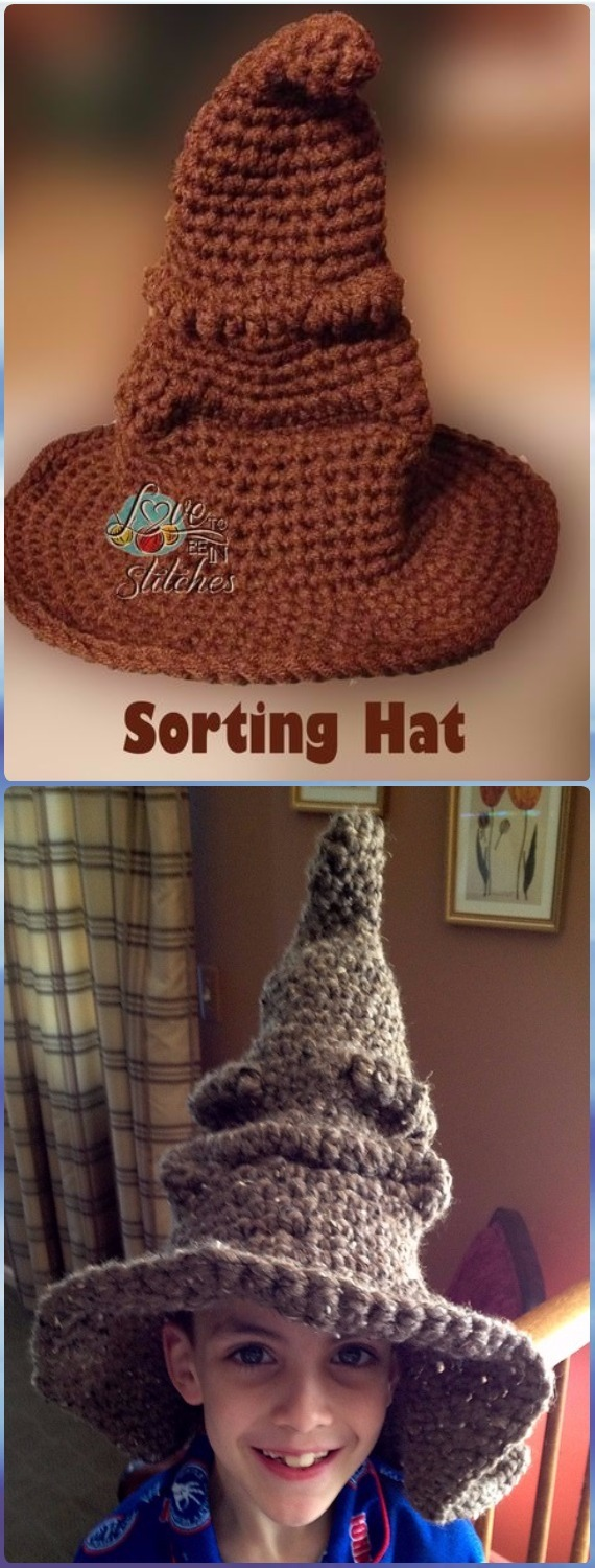 Crochet Harry Potter Sorting Hat Free Pattern – Crochet Halloween Hat Free  Patterns 413f6ca7911