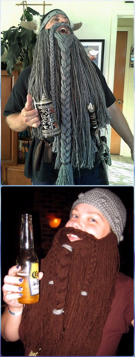 Crochet Viking or Dwarven Beard Free Pattern - Crochet Halloween Hat Free Patterns