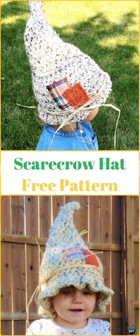 Crochet Scarecrow Hat Free Pattern - Crochet Halloween Hat Free Patterns