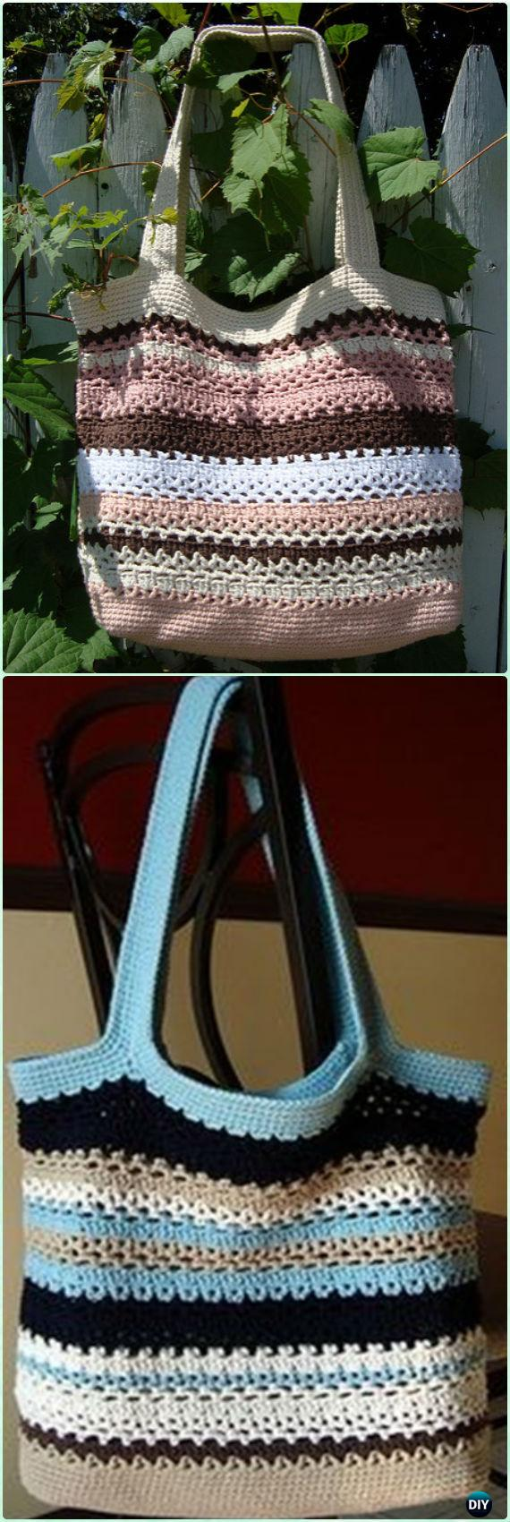 Magnificent Crochet Shopping Bag Pattern Free Collection - Easy ...
