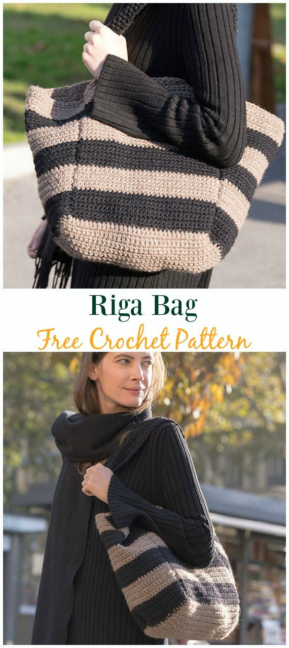 Riga Bag Free Crochet Pattern - #Crochet #Handbag Free Patterns