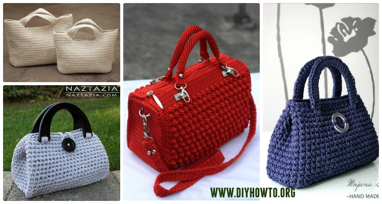 Crochet Handbag Free Patterns Instructions