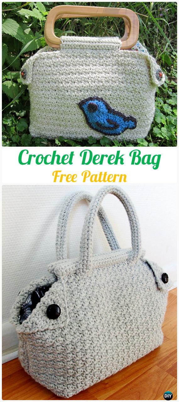 Crochet Derek Bag Free Pattern Handbag Patterns