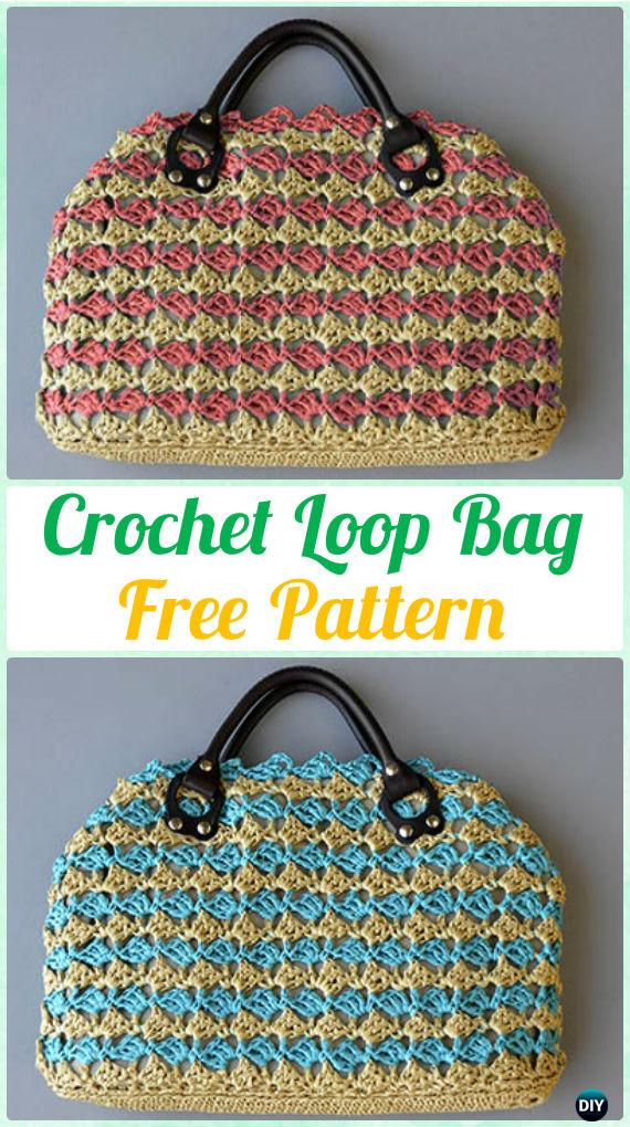 Crochet Loop Bag Free Pattern - #Crochet Handbag Free Patterns