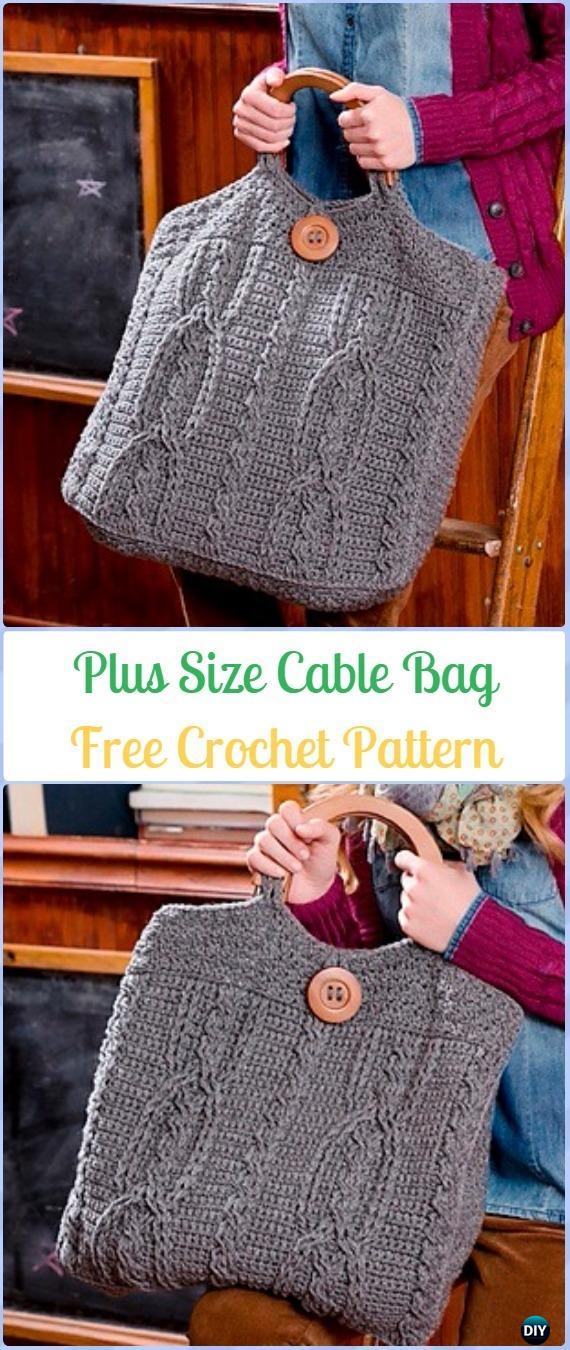 Crochet Plus Size Cable Bag Free Pattern Crochet Handbag Free