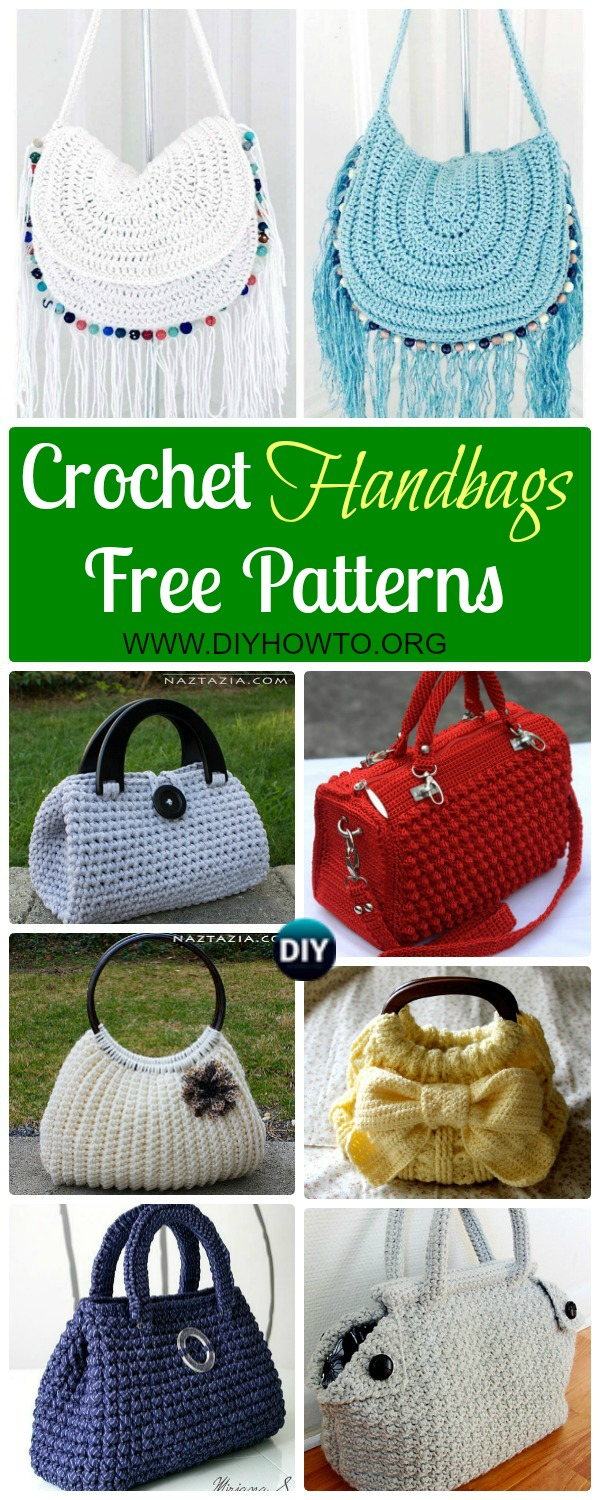 Crochet Handbag Free Patterns & Instructions
