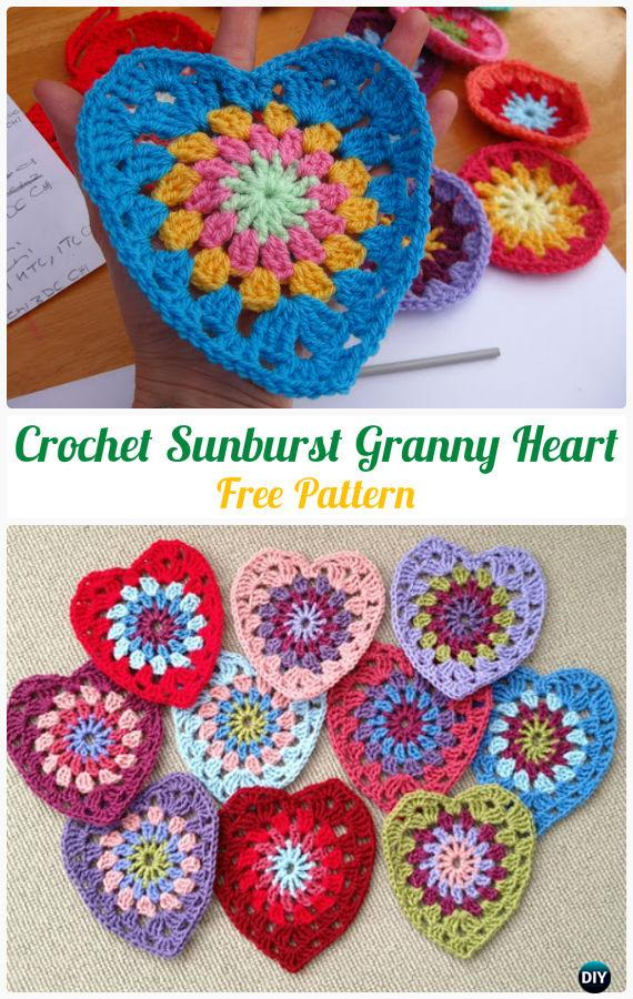 Crochet Heart Dog Free Pattern - Crochet Heart Applique Free Patterns