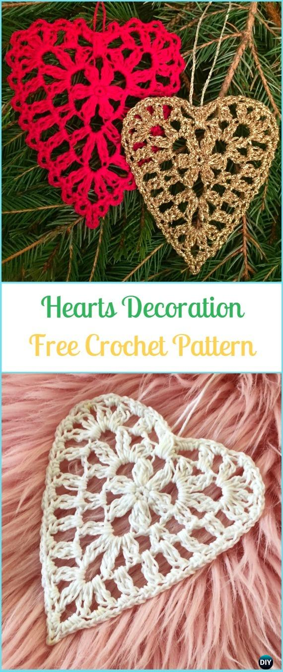 CrochetHearts decorationFreePattern- Crochet Heart Applique Free Patterns
