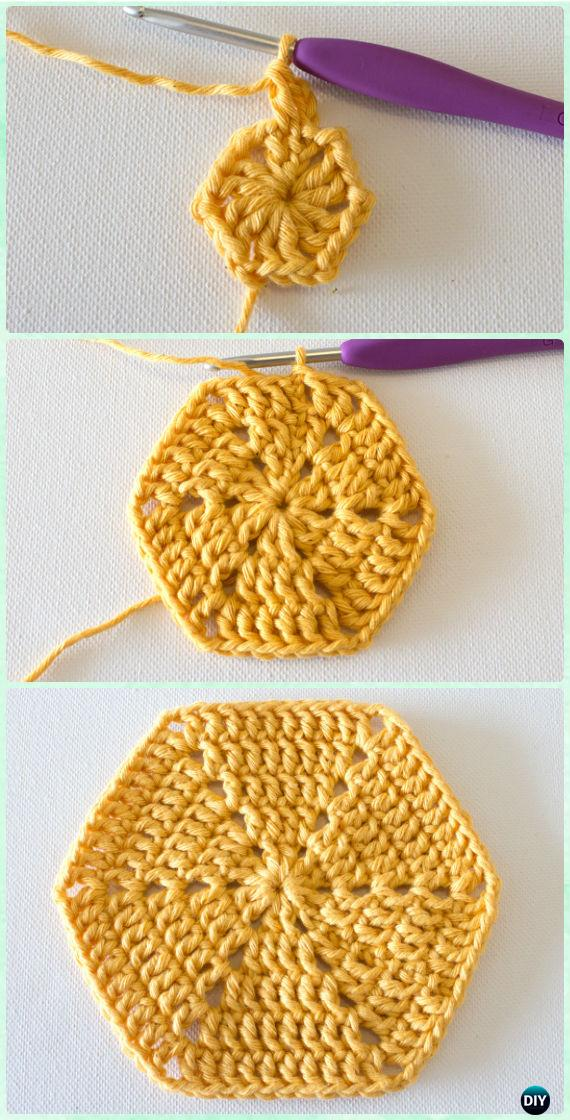 Crochet Basic Hexagon Motif Free Pattern - Crochet Hexagon Motif Free Patterns