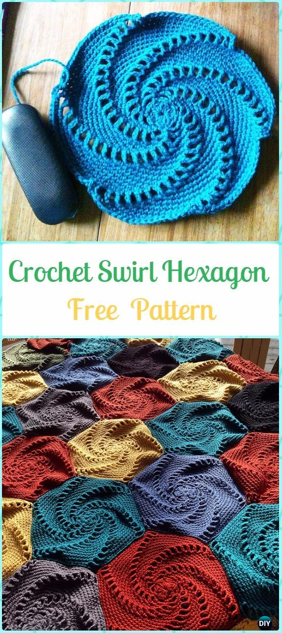 crochet hexagon motif free patterns amp instructions