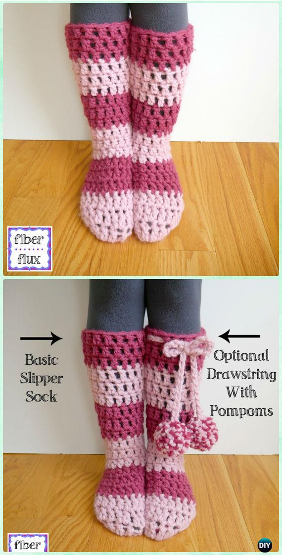 Crochet Strawberry Blossom Slipper Socks Free Pattern Video