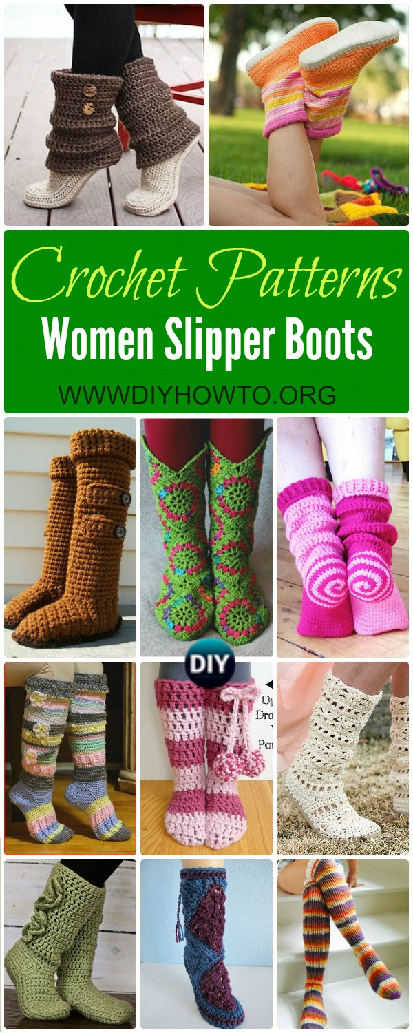 High knee crochet slipper boots patterns to keep your feet cozy crochet high knee crochet slipper boots patterns for winter bankloansurffo Image collections