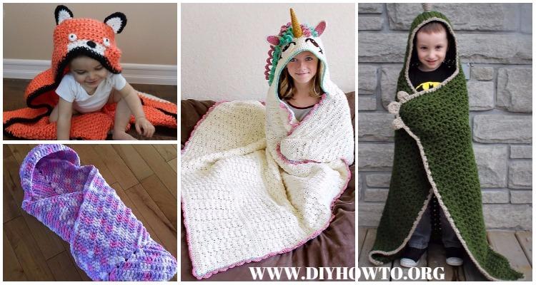Crochet Hooded Blanket Free Patterns Tutorials