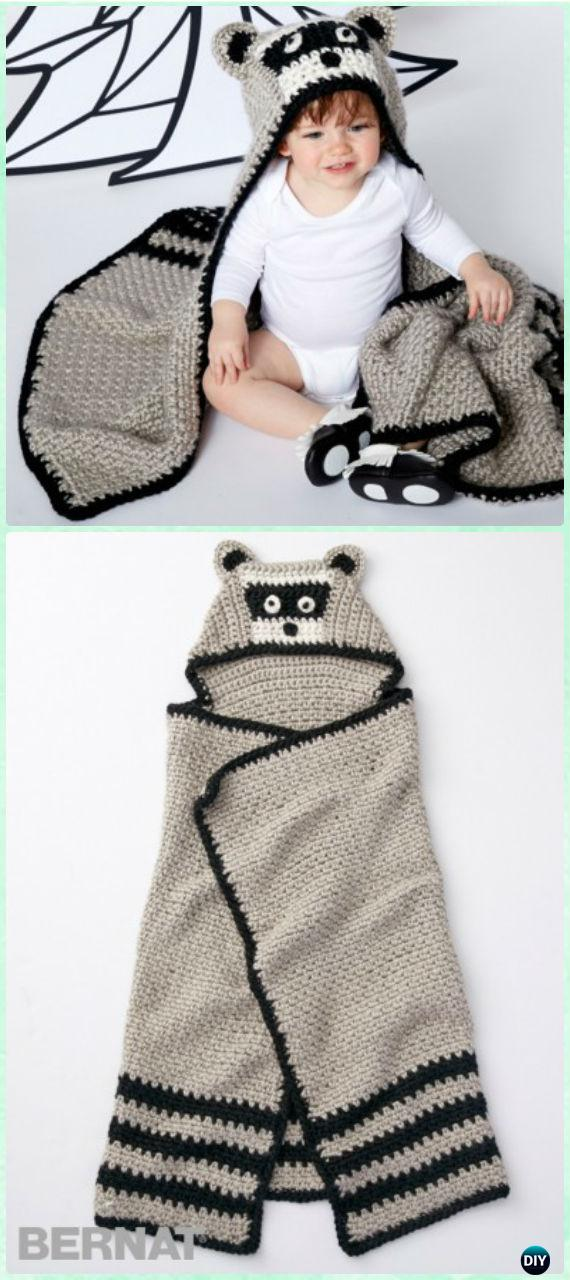 Diyhowto Crochet Hooded Blanket Free Pattern 01 Diy How To