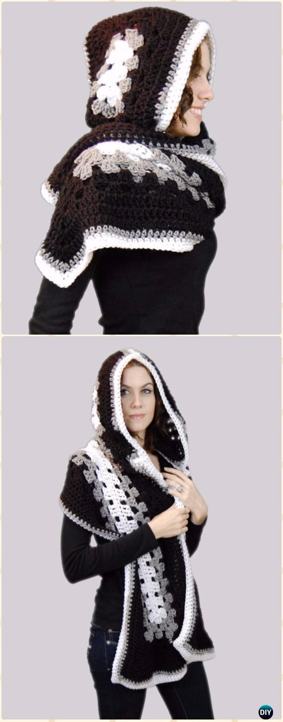 Crochet Hooded Scarf Pattern Unique Design Ideas