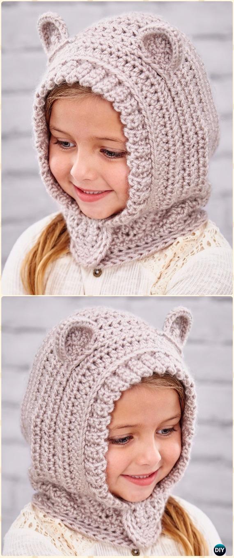 Crochet Happy HoodieFree Pattern - Crochet Hoodie Scarf Free Patterns