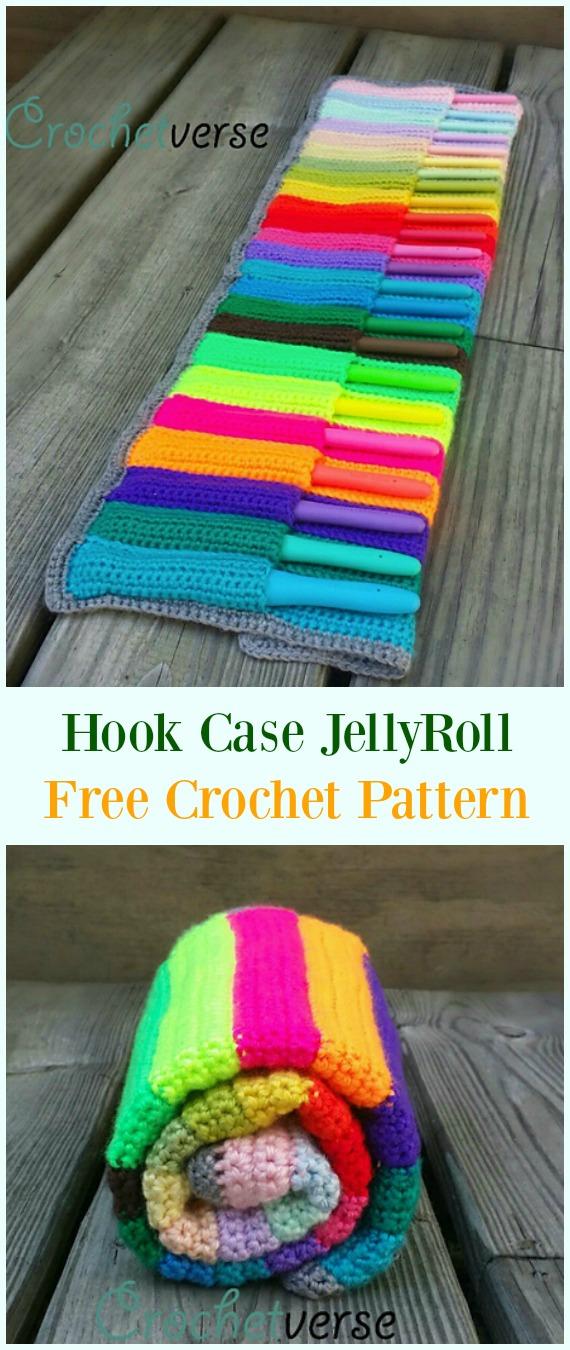 Crochet Hook Case Jellyroll Free Pattern Crochet Hookcase