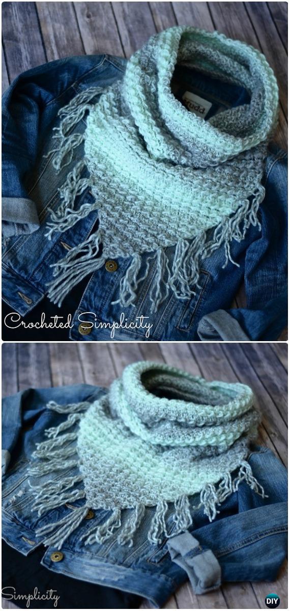 Crochet Scarfie Bandana Cowl Free Pattern Crochet Infinity Scarf