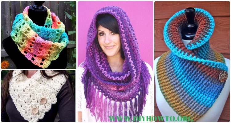 Crochet Infinity Scarf Cowl Neck Warmer Free Patterns Instructions