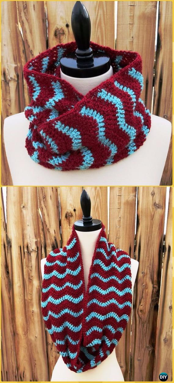 Crochet Infinity Scarf Cowl Neck Warmer Free Patterns & Instructions