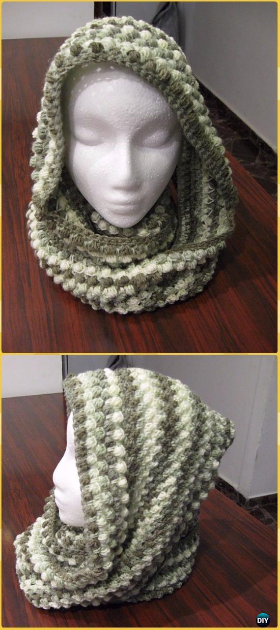 Crochet Infinity Scarf Cowl Neck Warmer Free Patterns