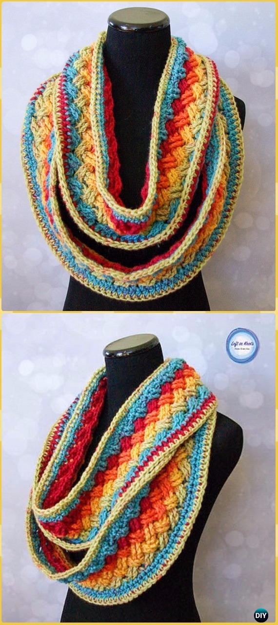 Crochet Lucky Celtic Infinity Scarf Free Pattern - Crochet Infinity Scarf Free Patterns