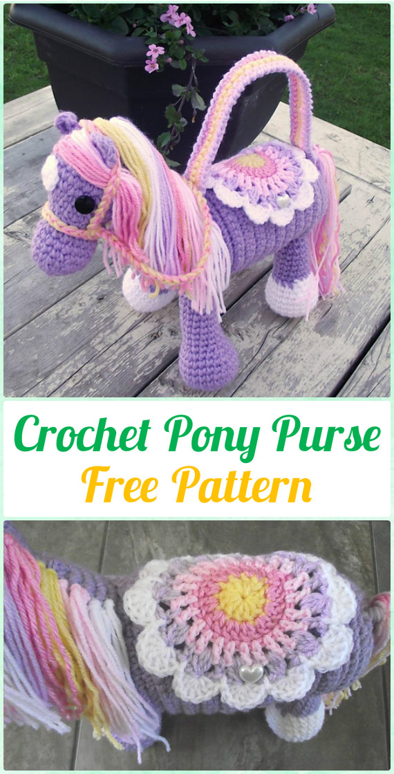 Crochet Kids Bags Free Patterns Instructions