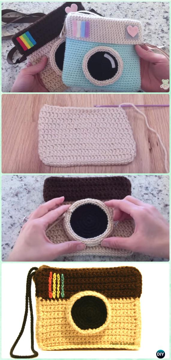 Crochet Instagram Camera Bag Free Pattern With Video