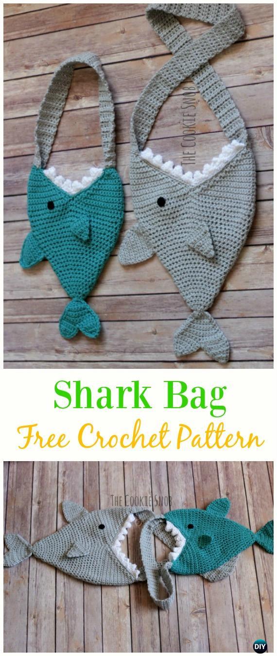 Shark Bag Free CrochetPattern - Crochet Kids Bags Free Patterns