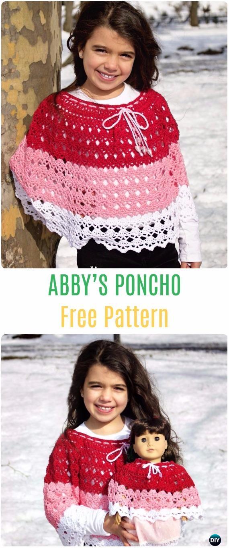 Free Crochet Pattern Child Poncho : Crochet Abbys Poncho Free Patterns - Crochet Kids Capes & Poncho Fre...