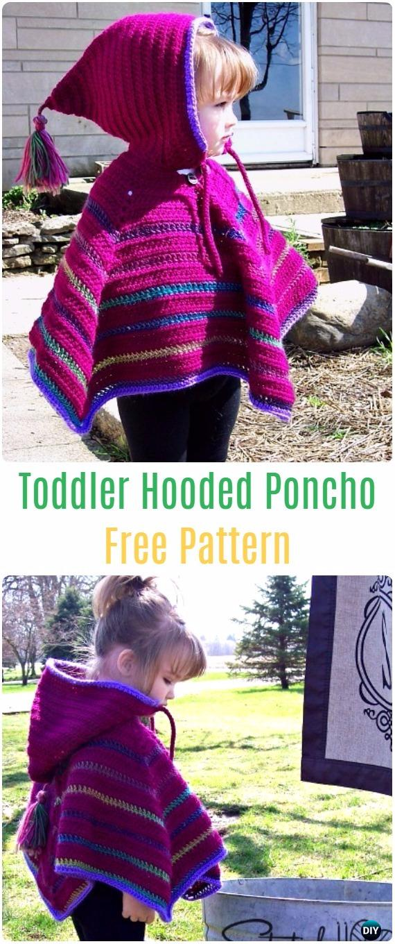 Free Pattern Crochet Childs Poncho : Toddler Hooded Poncho Free Patterns - Crochet Kids Capes & Poncho Free ...