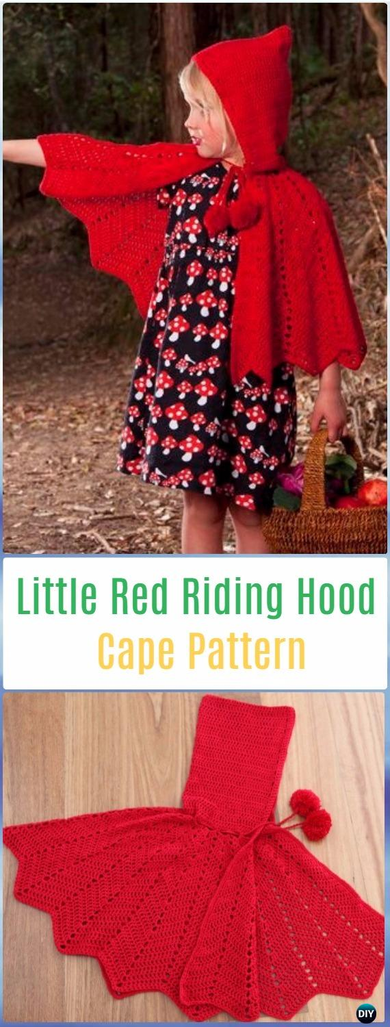 Crochet Little Red Riding Hood Cape Paid Pattern - Crochet Kids Capes & Poncho Patterns
