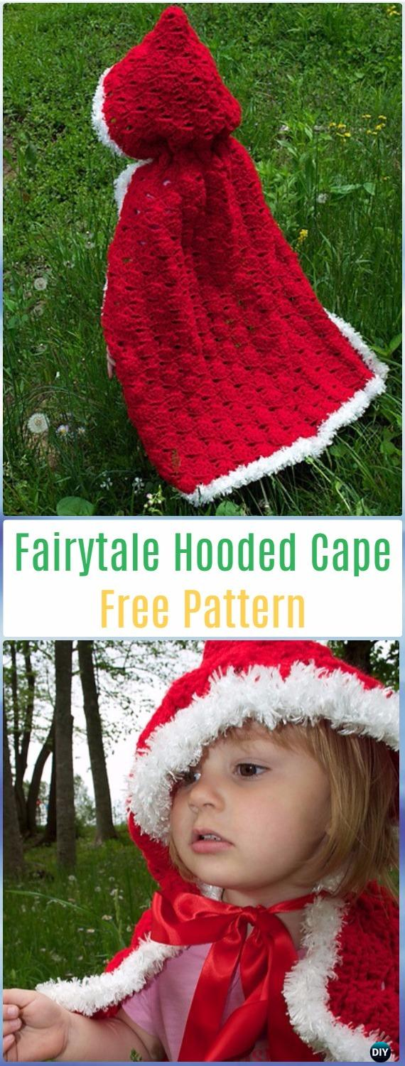 Crochet Little Red Riding Hood Cape Free Pattern - Crochet Kids Capes & Poncho Free Patterns