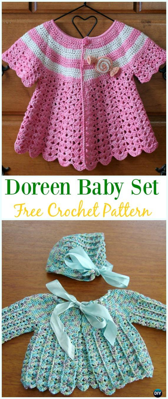 ad003236e Crochet Doreen Baby Cardigan Hat Set Free Pattern - Crochet Kid s ...