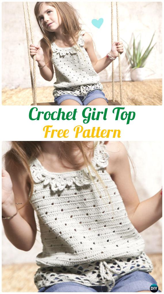 Crochet Girl Top Free Pattern - Crochet Kids Sweater Tops Free Patterns