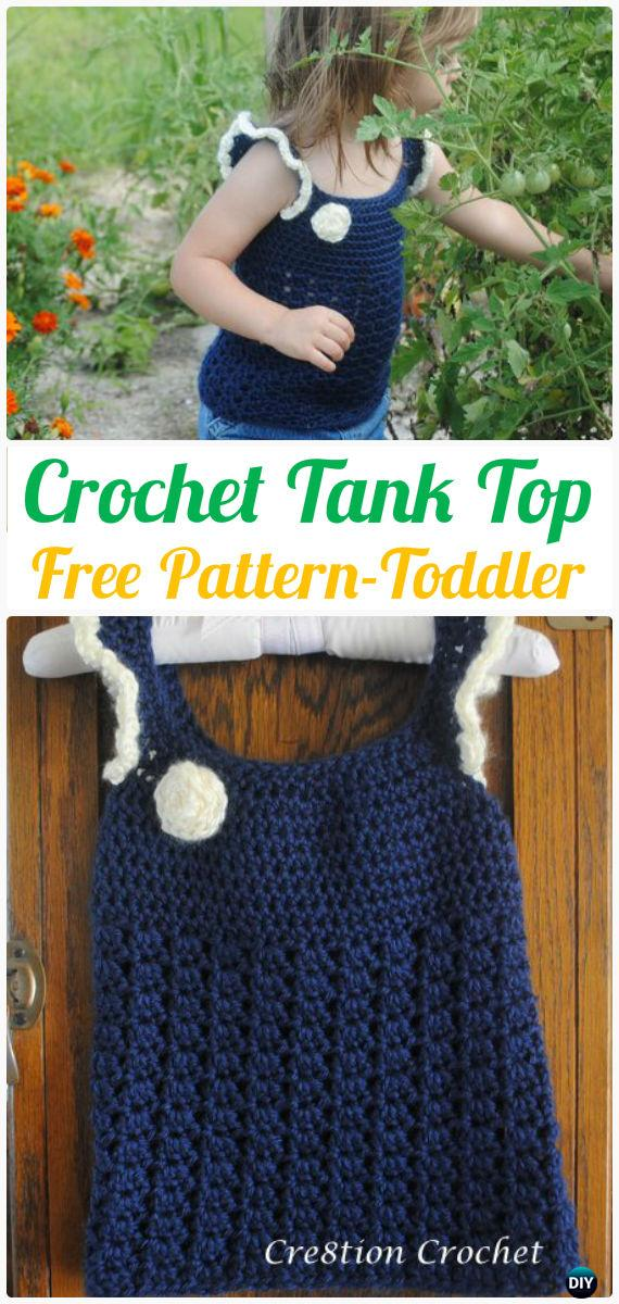 Crochet Kids Tank Top Free Pattern Toddler Size Crochet Kids