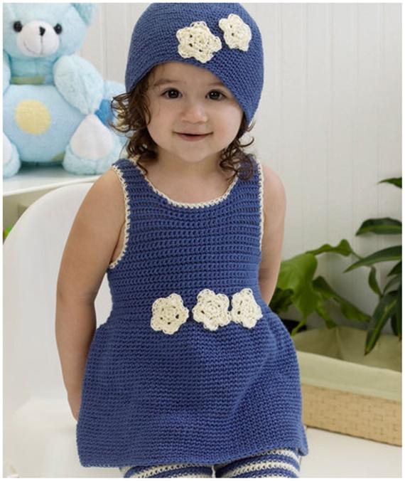 Crochet Darling One-Piece Romper & Hat Free Pattern - Crochet Kids Sweater Tops Free Patterns