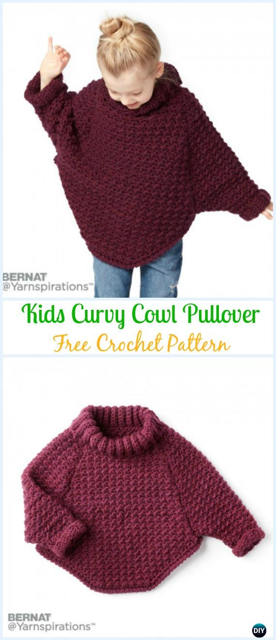 Crochet Kids Sweater Tops Free Patterns