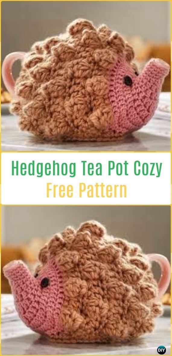 Crochet Hedgehog Tea Pot Cozy Free Pattern-20 Crochet Knit Tea Cozy Free Patterns