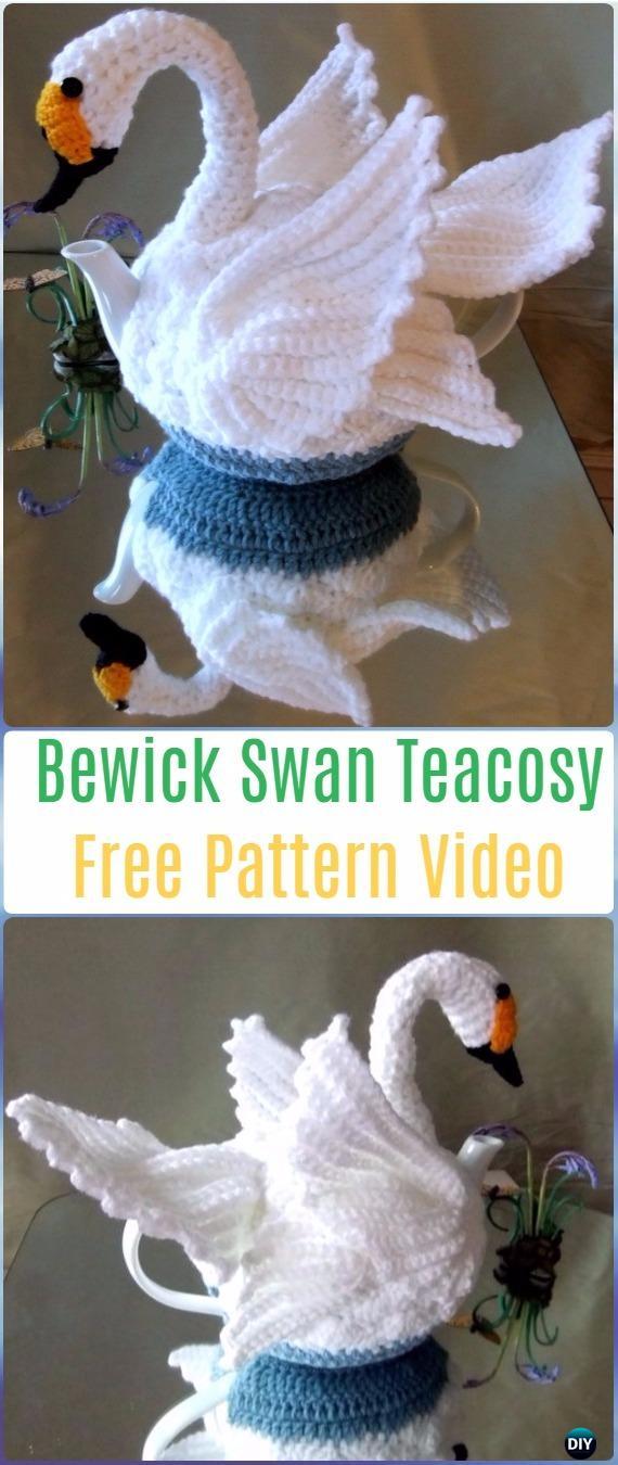 25 Crochet Knit Tea Cozy Free Patterns