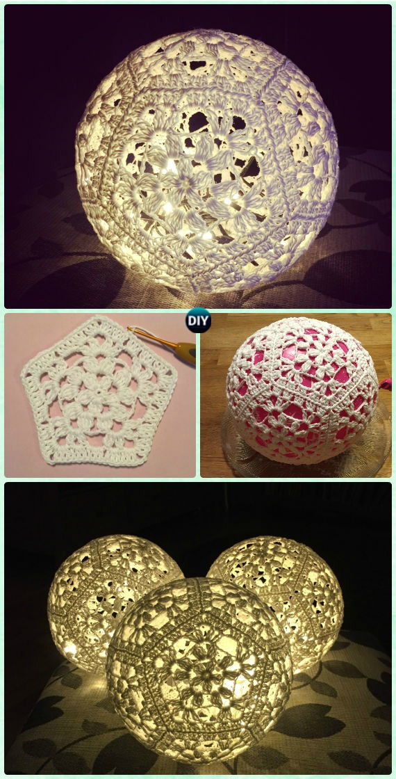 Crochet Lamp Shade Free Pattern Instructions