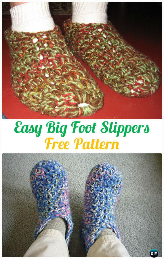 Crochet Men Slippers Shoes Free Patterns [Instructions]