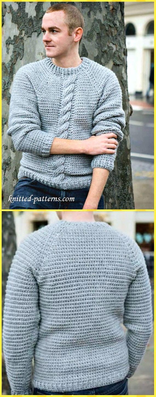 Crochet Men Sweater Free Patterns & Tutorials