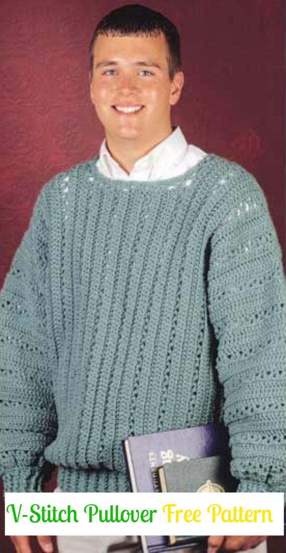 Crochet Men Sweater Free Patterns Tutorials